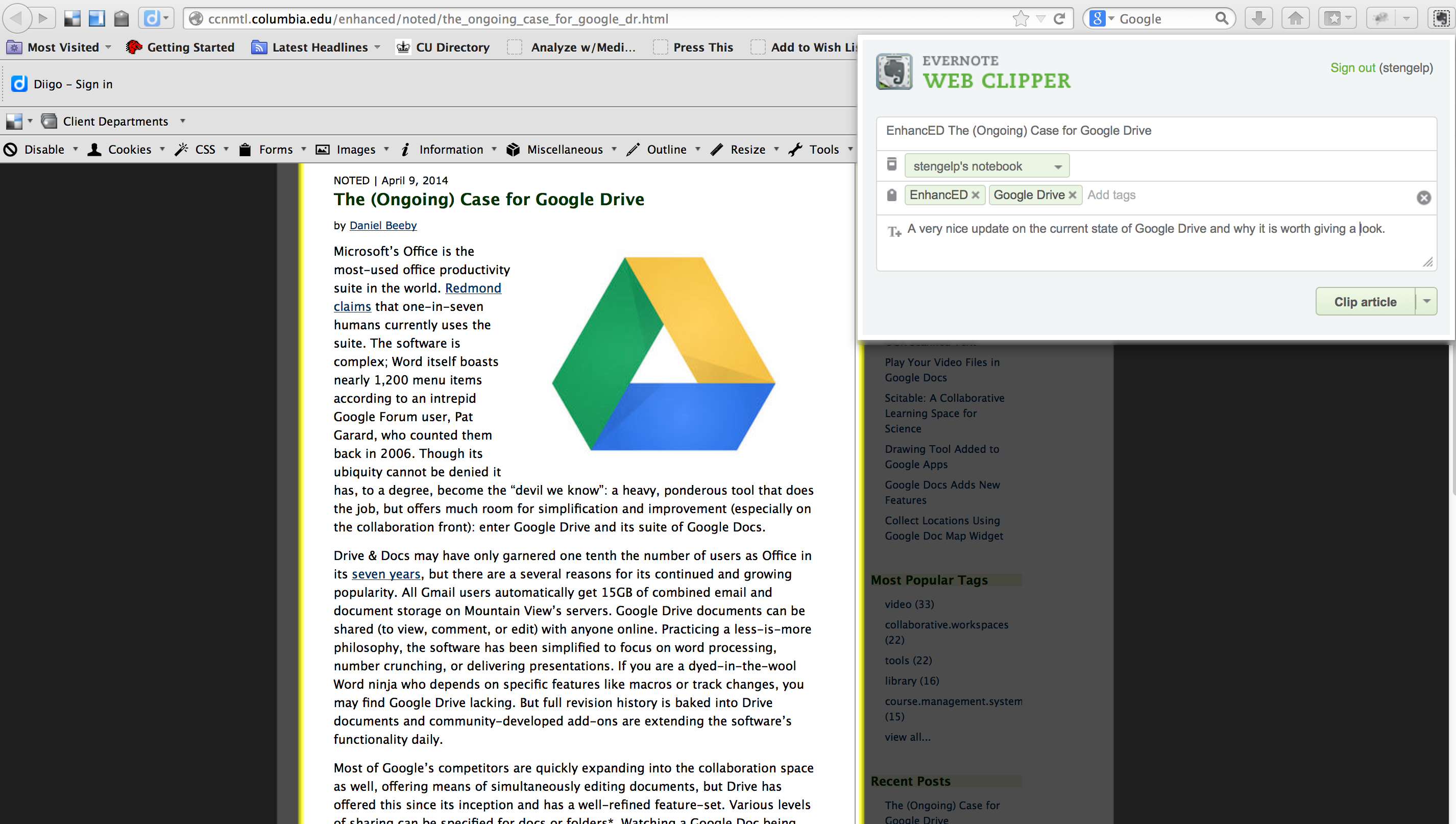 EnhancED Evernote: A Noteworthy Tool for Teaching and Learning