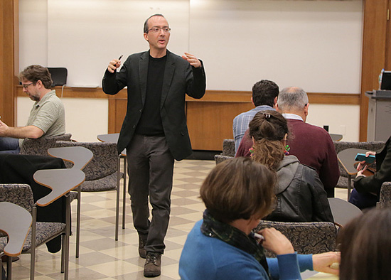 Stockwell in classroom