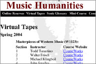 Music Humanities: Virtual Tape Project