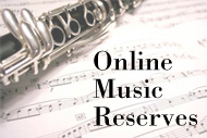 Music Humanities: Online Music Reserves