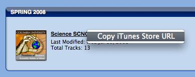 Copy iTunes URL