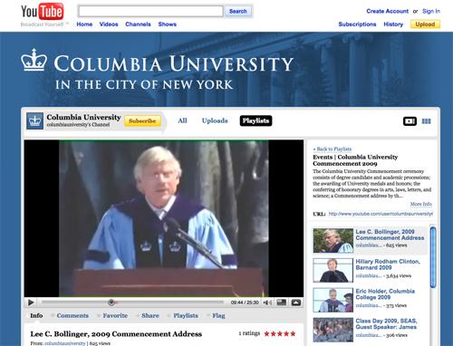 Columbia YouTube