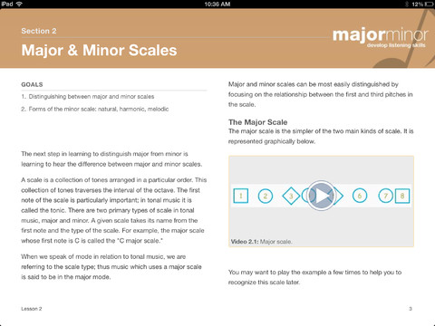 Major Minor Music iBook Scales Lesson