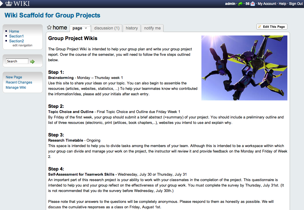 Collaborative Teaching Wiki ~ Our services wikispaces examples